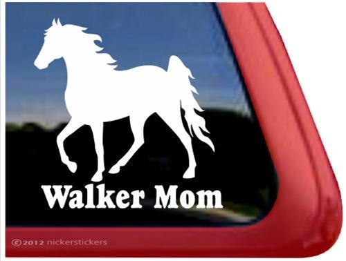 Walker Mom ~ Tennessee Walking Horse Trailer Vinyl Window Decal Sticker