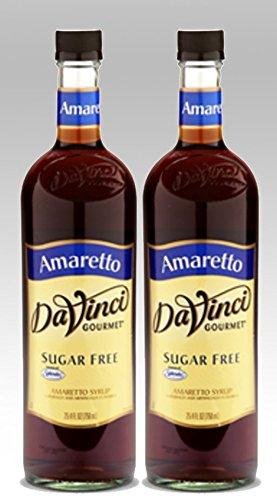 DaVinci Gourmet Sugar Free Amaretto Flavored Syrup 2 Bottles ()