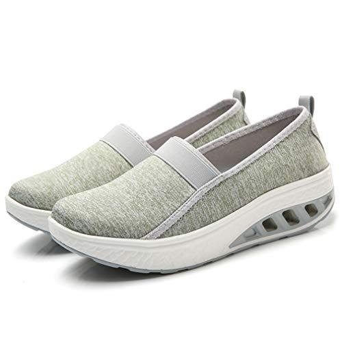 On Light Size Walking Slip 11 Green Sports Lightweight Shoes 360 Orlancy Fitness Sneakers Mesh US4 Wedge Women's n6YxwY1qA
