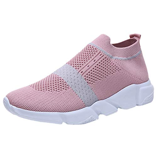 LENXH Casual Sports Shoes Ladies Running Shoes Breathable Mesh Shoes Fashion Soft Bottom Shoes 36-41 Pink (Evh Sneakers)