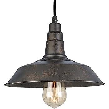 LNC Rust Pendant Lighting Indoor Pendant Lights Ceiling Barn Light Warehouse