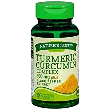 Nature's Truth Turmeric Curcumin Complex 500 mg plus Black Pepper Extract Quick Release Capsules - 60 ct, Pack of 2