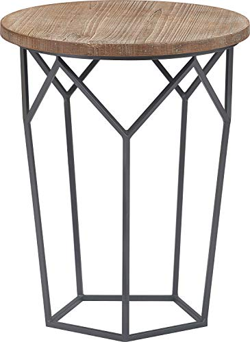 Finch FUST10067A Avalon Side Table Distressed Wood