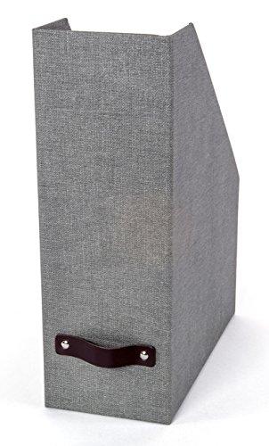 Bigso Estelle Canvas Paper Laminate Magazine File Box, Grey
