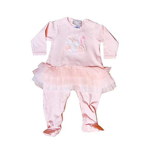Biscotti Baby Girls Rompers (Pink Swan, 9 Month)