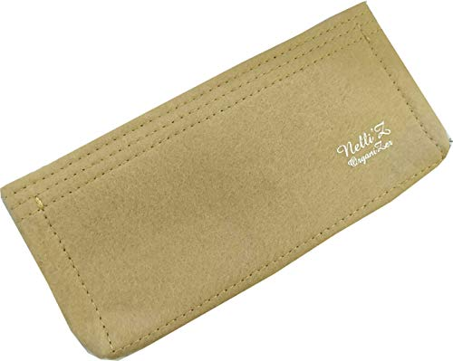 Nelliz Felt Bag insert Organizer Organiser Shaper For Lv Pochette accessoires pouch accessories purse pouchette kirigami large (Beige)