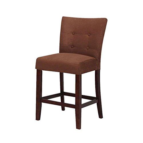ACME Baldwin Chocolate Microfiber Counter Height Chair Set of (Microfiber Counter Height Stools)