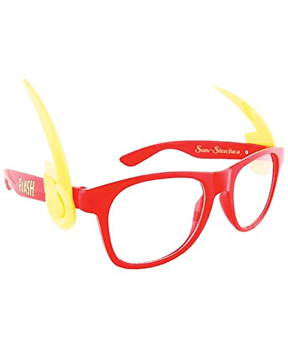 [Sun Staches Flash Sunglasses] (Flash Gordon Halloween Costume)