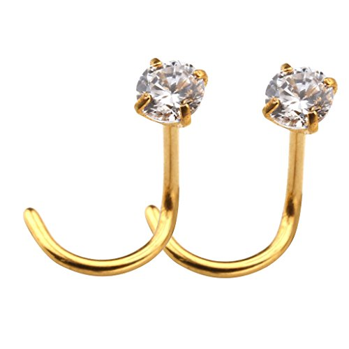 JOVIVI Stainless Zircon Piercing Earrings
