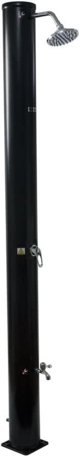 habitatetjardin Ducha Solar para Piscina PVC Fresh 13-40L + Mezclador y Enjuague de pies