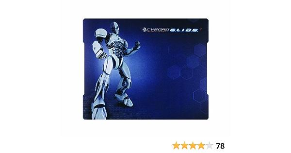 Mad Catz Cyborg GLIDE 7 - Alfombrilla de ratón (Azul, 500 mm, 400 mm, Caucho)