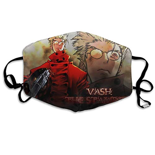 Angela R Mathews Trigun-VASH Anime/Cartoon Print Classic Mouth Mask Anti-Dust Polyester Cool Trendy Mask for Men,Women,Kids