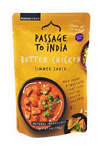 Passage to India Simmer Sauce, Butter Chicken, 7-Ounce (Pack of 3)