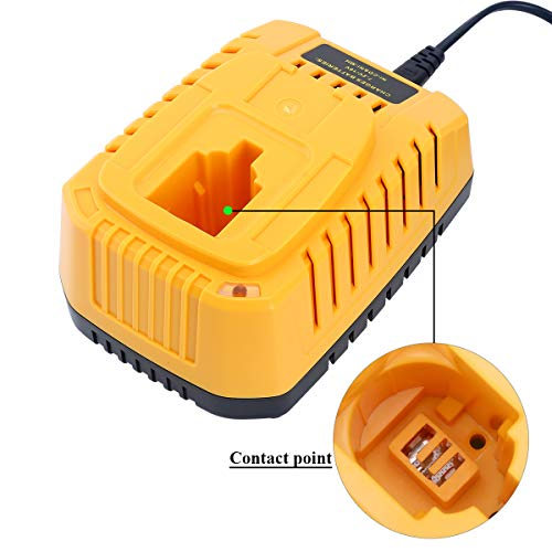 Swidan Replacement NICad&NiMh Battery Charger for DEWALT 7.2V-18V NiCad & NiMh Battery DW9057 DC9071 DC9091 DC9096 DW9072 DW9091 DC9099 DW9099