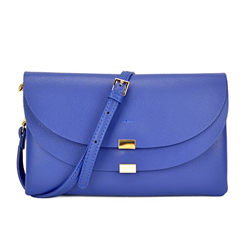 Shoulder Cross Clutch Body Handbag Wristlet Bag Womens Mini Ipad Multi Compartment Purse Blue Soft Royal aRqwEE8Ax