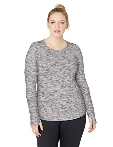 Core 10 Womens Be Warm Thermal Fitted Workout Long Sleeve (XS-XL, Plus Size 1X-3X)