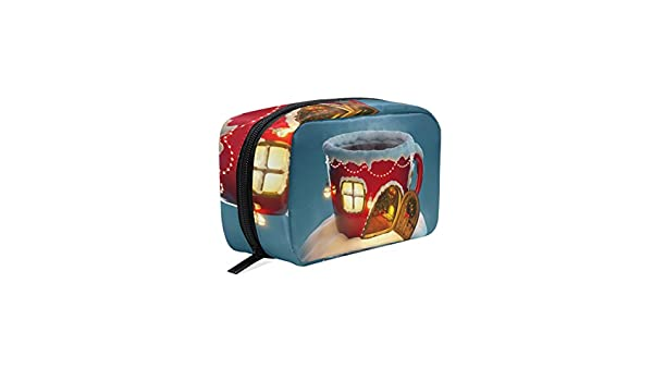 Amazon.com : LORVIES Christmas Tea Cup Cosmetic Pouch Clutch Makeup Bag Travel Organizer Case Toiletry Pouch for Women : Beauty
