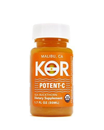 Kor Shots - Potent-C - Organic Cold Pressed, Dietary Supplement, Immunity Boosting, Vitamin-C, Energy Juice Shot - 24 Pack