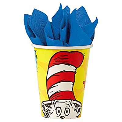 Dr. Seuss Party Pack Seats 8 - Napkins, Plates, Cups, Cutlery - Party Supplies Decorations, Standard Party Pack: Health & Personal Care