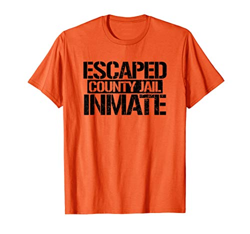 Orange County Halloween Party (County Jail Inmate Lazy Halloween Party Costume Orange Tee )