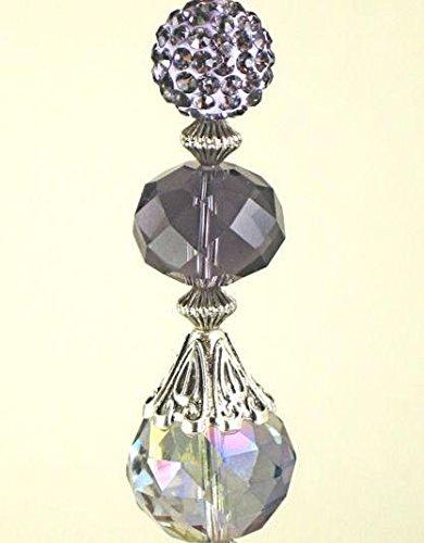 Purple Amethyst Lavender Lampwork Glass Ceiling Fan Pull Chain/Light Pull