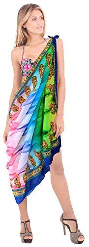 La Leela Damen und Strandbadebekleidung Badeanzug Bikini Gr��e decken Wrap Sarong Kleid rosa bis
