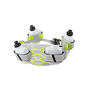 Nike Vapor/Storm 4 Bottle Waistpack (One Size Fits Most, Silver/Volt)