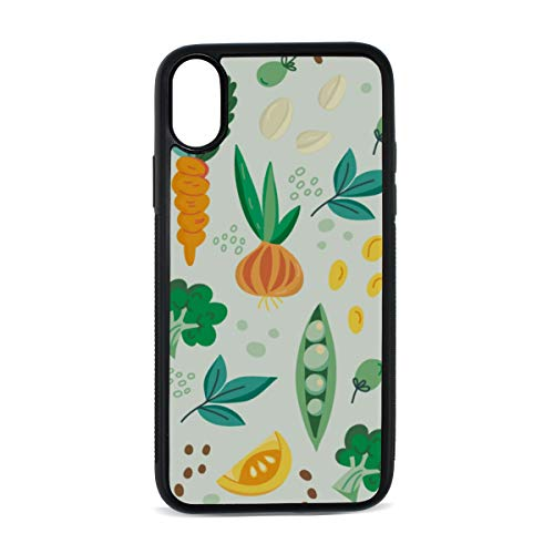 Fruit and Vegetable Harvest Sweet Digital Print TPU Pc Pearl Plate Cover Phone Hard Case Cell Phone Accessories Compatible with Protective Apple Iphonex/xs Case 5.8 Inch