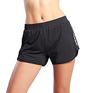Ogeenier Women's Gym Running Shorts, Lightweight Cool Feel Mesh Sport Workout Shorts Bodybuilding Jogging Training Shorts