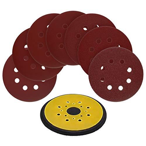 00 Loop - 5-Inch 8-Hole Hook and Loop Random Orbit Sander Pad Replaces Black & Decker OE # 380278-00 for RO 100 Sander with 70pcs 5-Inch 8-Hole Hook and Loop Sanding Discs
