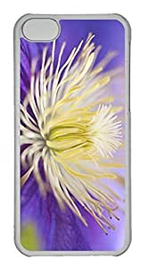 Customized iphone 5C PC Transparent Case - Flower Bit Cover