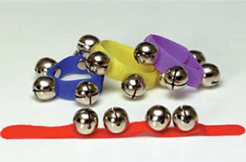 Rhythm Band School Children Kids Musical Instrument Colored Asstmt 12 Wrist Bells/velc