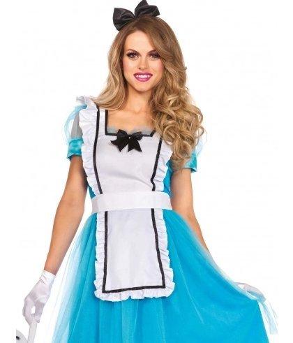 competitive price 1ab14 0c26a Costume carnevale adulto Alice travestimento alice nel paese ...