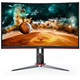 """AOC CQ27G2 27"""" Super Curved Frameless Gaming Monitor QHD 2K, 1500R Curved VA, 1ms, 144Hz, FreeSync, Height Adjustable, 3-Year Zero Dead Pixel Guarantee"""