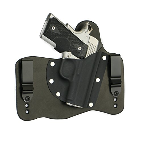 FoxX Holsters Kimber 1911 Pro Carry II, Pro TLE II In The Waist Band Hybrid Holster (Black) (Iwb Holster For Kimber Pro Carry Ii)