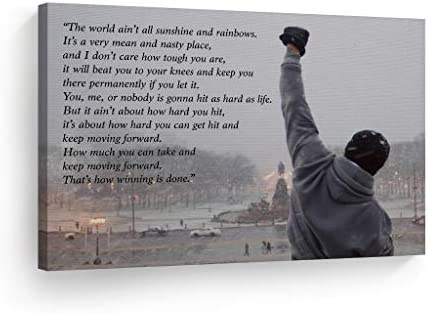 Motivational Art Sylvester Stallone Stretched product image
