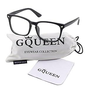 GQUEEN 201582 Large Oversized Frame Horn Rimmed Clear Lens Glasses