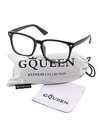 Glasses Queen 201582 Large Oversized Frame Horn Rimmed Clear Lens Glasses