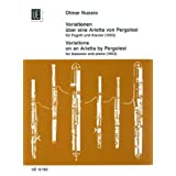 Variations on an Arietta by Pergolesi: UE12182: For Bassoon and Piano