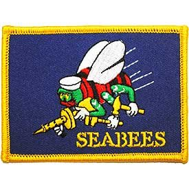 EagleEmblems PM3825 Patch-Usn,Seabees,Flag (2.5x3.5'') by EagleEmblems