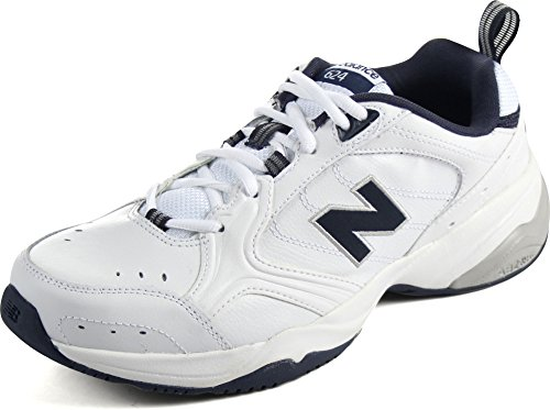 New Balance Men's MX624v2 Casual Comfort Training Shoe, White/Navy, 10 D US -