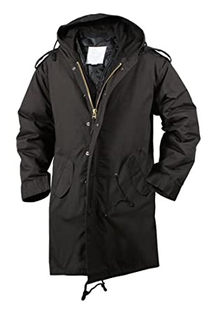 Amazon.com: ROTHCO M-51 FISHTAIL PARKA / BLACK - Size: 3XL ...
