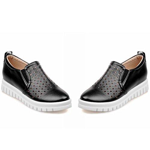 COOLCEPT Zapatos Mujer Moda Breathable Flatform Comodo Outdoor Bombas Zapatos Negro
