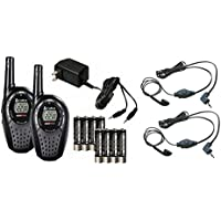 COBRA CXT235 MicroTalk 20 Mile FRS/GMRS Walkie Talkie 2-Way Radios + 2 Headsets