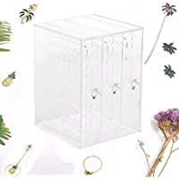 Jewellery Gift Box Jewelry Storage Box Multifunctional Transparent Dust Earrings Necklace Display Holder Organizer for Girls and Women Christmas,Birthday,Wedding Gift(without jewelry)