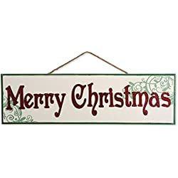 DII Indoor/Outdoor Hanging Merry Christmas Wooden Sign to Celebrate the Holidays, Wooden Wall & Door Decoration - Merry Christmas