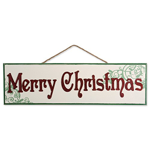 DII Indoor/Outdoor Hanging Merry Christmas Wooden Sign to Celebrate the Holidays, Wooden Wall & Door Decoration - Merry Christmas ()