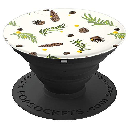 Autumn Pinecone And Pine Leaf - PopSockets Grip and Stand for Phones and Tablets