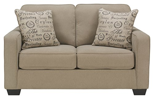 Signature Design by Ashley - Alenya Classic Upholstery Sofa Loveseat w/ 2 Throw Pillows, Quartz