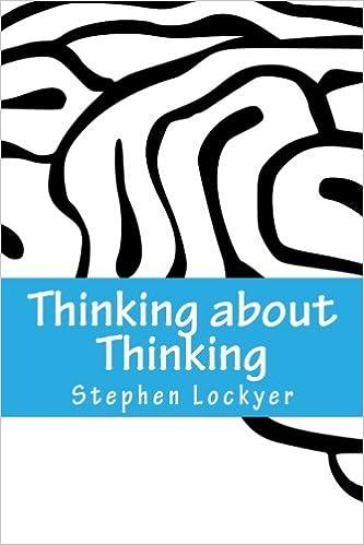 Thinking about Thinking: Learning Habits Explored: Amazon co